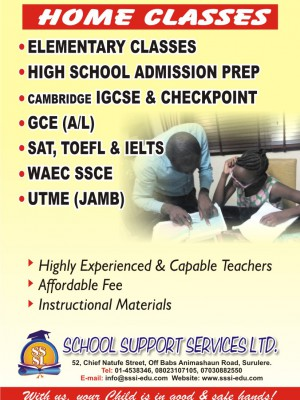 Lekki/Ajah IGSCE, SSCE summer coaching class home tutors