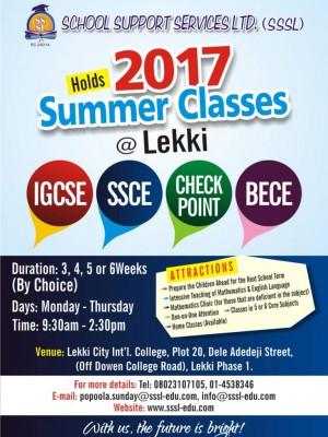 Lekki/Ajah IGSCE, SSCE summer coaching class