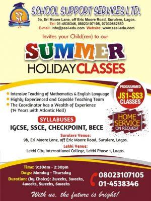 2019 Lekki/Ajah IGSCE, SSCE summer coaching class