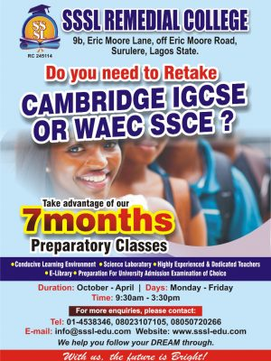 Alevel , IGCSE Remedial coaching class Lagos